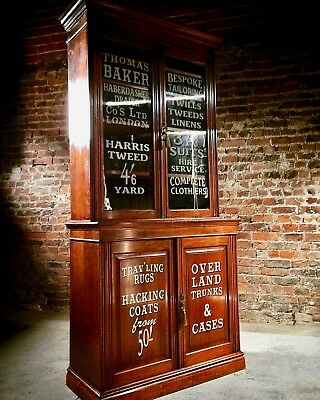 Magnificent Haberdashery Bookcase Display Cabinet Antique Mahogany Edwardian