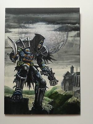 Simon Bisley original painting cover art Tower Chronicles comic  issue 9