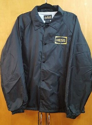 Vintage HESS Gas Station Jacket  Sz Xl ~ NICE! used~ HTF ~ RARE! Coat Oil Fuel