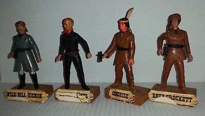 Legends of the West vintage 1978 toys Wild Bill, Davy Crockett, Cochise, J James