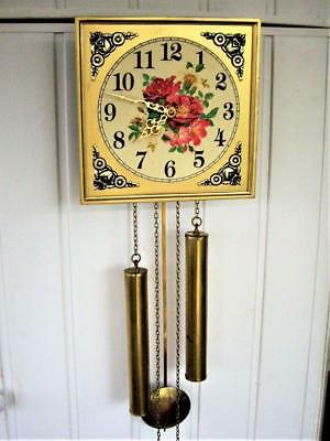 8-DAY WEIGHT DRIVEN TING-TANG WALL CLOCK - Working