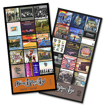 "ALLMAN BROTHERS BAND twin pack discography magnet set (two 5.5"" x 3.75"" magnets)"