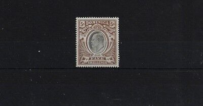 Dominica Sg46, 5/- Edward Vii Mca Wmk, Fine Mounted Mint
