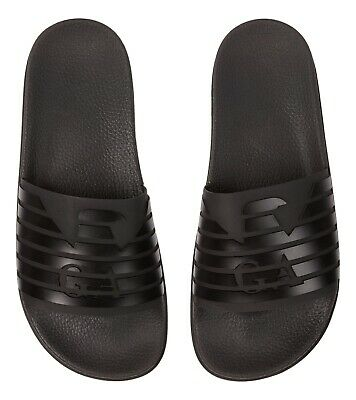 4f09a684218 EMPORIO ARMANI beach slippers sandal with rubber band X4P077 XL273 A039  black