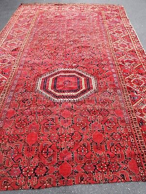 Tapis ancien rug oriental orient tribal ethnique Asie Centrale Beshir 19e siecle