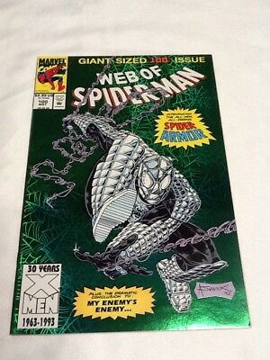 Web Of Spider-Man #100 Green Foil Giant Size VF+ (001087)