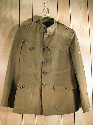 WWI US Army Expeditionary Forces Wool Uniform Tunic Coat Advanced Section