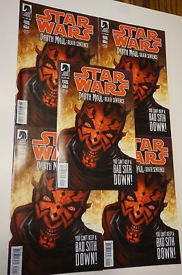 5x DARTH MAUL Death Sentence ~Comic # 1 ( 5 COPY LOT ) NM/UNREAD Dark Horse 2012