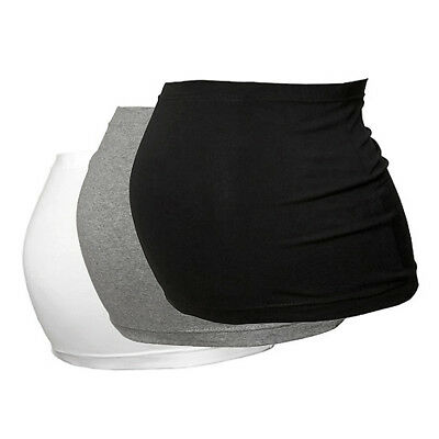 Maternity Belly Band/Bump Band by Harry Duley. 3 Pack. Cotton. Black/White/Grey