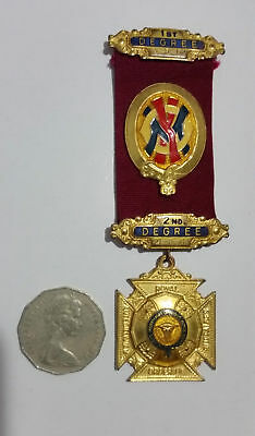 1st & 2nd Degree Badge & Medal regalia RAOB Royal Antediluvian Order Buffaloes