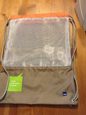 SAS Scandinavian Airlines Drawstring Back Sack/Bag Mesh