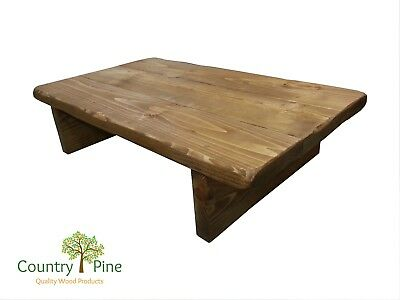 Rustic Solid Pine Coffee Table | 2 inch Timber