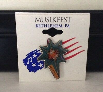 New Musikfest Lapel Collector's Pin - Bethlehem, Pa. - 2009