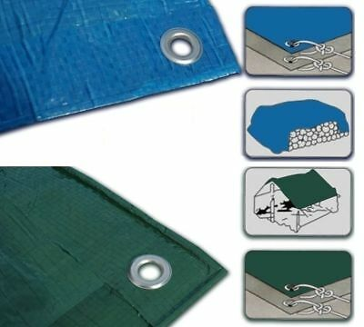 Sizes of Heavy Duty Tarpaulin  Waterproof Strong Cover Ground Sheet Tarp