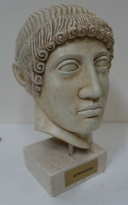 upx26 ANCIENT GREECE REPRODUCTION BUST OF APOLLO Greek God