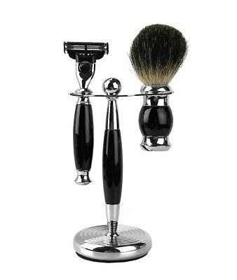 Classic Shave Gift Set Black Handle Made In Germany New Box