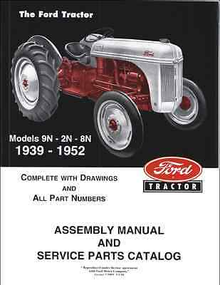 Ford 9N 2N 8N Tractor Illustrated Master Parts Manual 1939-1952 (0343)