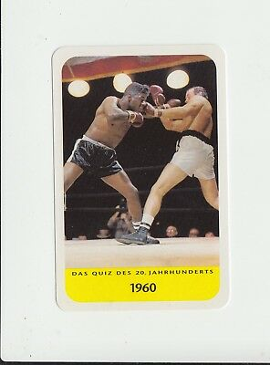 Boxing : Floyd Patterson : attractive German collectable game card
