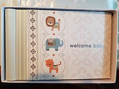 Carter's Baby Photo Brag Book, Safari Lion Elephant Tiger, bn