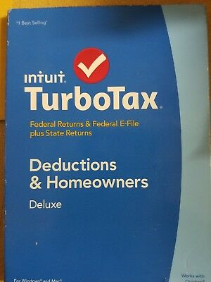 Intuit TurboTax Deluxe 2014, Federal & Fed E-File includes STATE- NEW SEALED!!!