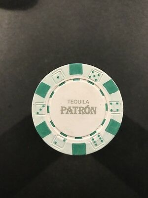 NEW Patron Tequila Poker Chips - Sealed Stack of 20 Chips - Green - Collectible