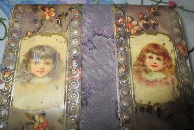 Antique Victorian sewing case kit box jewelry box
