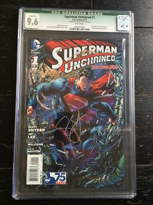 Superman Unchained #1 CGC 9.6 Signed x3 Jim Lee Scott Snyder Scott Williams
