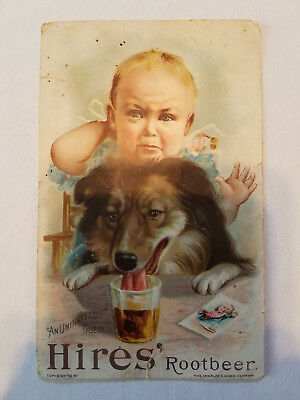 """""""Hires Root Beer"""" Victorian Trade Card, by charles E Hires Co, Circa 1890's"""
