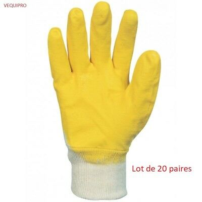 Gant nitrile (3/4). Enduction ultra-légère. Lot de 20 paires. Taille 9