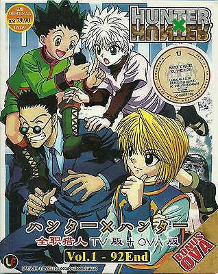 Hunter x Hunter (1999) Complete Anime Episode 1 - 92 + OVA DVD Box English Subs