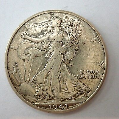 Usa  1941S  Silver Half Dollar Coin   - Mid Range Quality