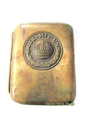 German Ww 1 Bronze Enlisted Man's Army Cigarette Case - 1914-1945