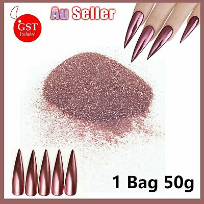 50g Rose Gold Fine Laser Flash Glitter Powder Dust Body Decor Craft Nail Art DIY
