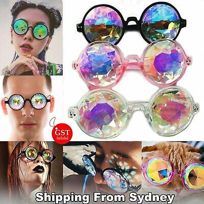 Kaleidoscope Glasses Rave Festival EDM Sunglasses Diffracted Lens Party Show ico