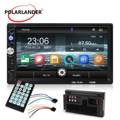 """Double 2Din HD 7""""  In Dash Stereo MP5 Player Car Radio USB/AUX/FM/SD Bluetooth"""