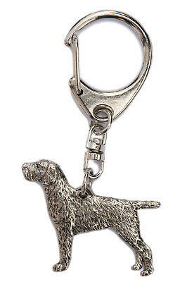 German Wire Haired Pointer  Made in U.K  Artistic Style Dog Key Ring Collection