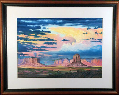 Original Teddy Draper Painting Framed Monument Valley