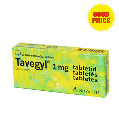 Tavegyl 1mg Allergy Skin Itching Rashes Insect Bites Redness Sneezing 20tablets