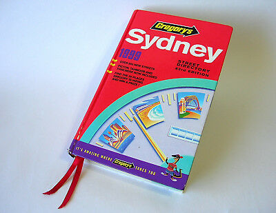 1999 Gregory's Sydney Street Directory 63rd Edition ~ Very Good Vintage Condit'n