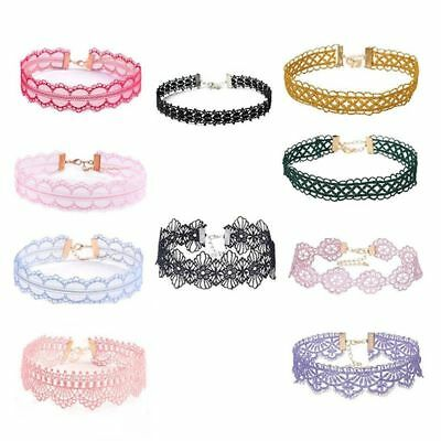 10pcs Women Lady Fashion Hollow Lace Trim Wide Collar Necklace Sexy Tattoo B2P3
