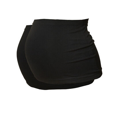Plus Size Maternity Belly Band/Bump Band by Harry Duley. 2 Pack. Black & Black