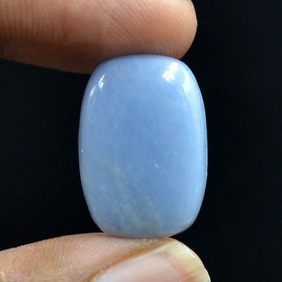 Cts. 21.15 Natural Enchanting Angelite Baguette Cabochon Exclusive Gemstone