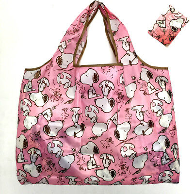 Snoopy Foldable Shopping Nylon Bag ~ pink