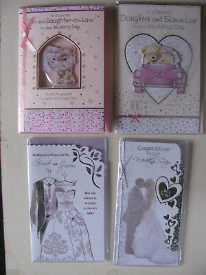 Wedding Day Cards Congratulations Marriage Husband & Wife Best Man Wishes Happy