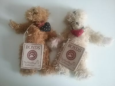 """HEARTS OF LOVE Twins 7"""" Head Bean Collection Heirloom Series Boyds Bears"""