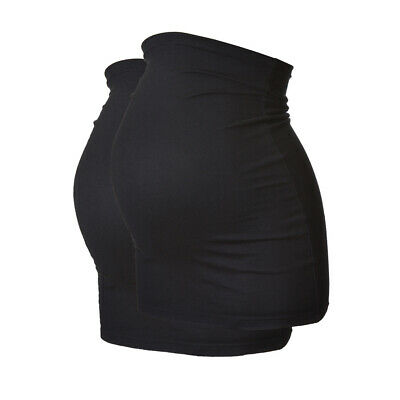 Pack of 2 Black Plus Size LONG Maternity Belly Bands/Bump Bands by Harry Duley.