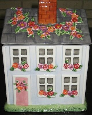 Claire Murray Cookie Jar Vintage Nantucket House Cottage by Gibson Elite
