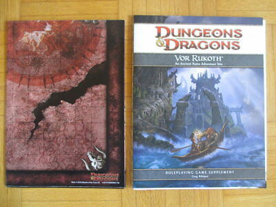 Dungeons & Dragons Supplement Vor Rukoth + Map - Fourth Edition 4th D&D DM Guide