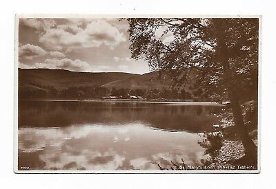 St Mary's Loch showing Tibbie's, Selkirkshire 1939 Real Photo Postcard 39H