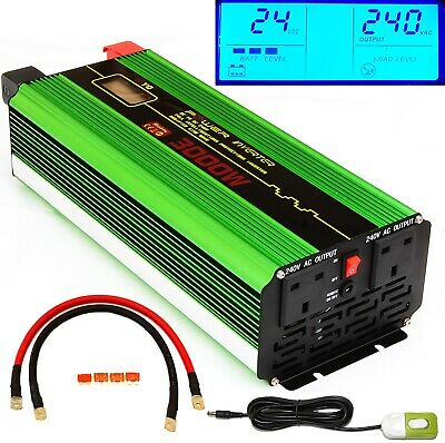 3000W/6000W(Peak) DC24V POWER INVERTER, Good for Truck Lorry Microwave + Remote